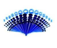50pcs / set Acryl verschiedene Farben-Ohr-Gauges Taper und Stecker Stretching Kits Flesh Tunnel Expansion Body Piercing Schmuck