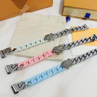 Pulsera de moda de tres estilo costura pulida Cadena de Pulsera Pulsera Pulsera de acero de titanio de alta calidad Suministro de joyas