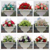 Dekorative Blumen Kränze SPR !!! 10pcs / lot Hochzeitsstraße Blei künstlich küssen Kugel Tisch Mittelstück Dekoration