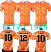 Alta Qualidade 88 Jersey de futebol Retro Países Baixos Van Basten Gullit 1988 Voetbal Camiseta Seedorf Bergkamp Holland 1988 Camisas de futebol