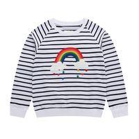 Little Maven 2-7Years Herbst Regenbogen Stickerei Kleinkind Kinder Baby Mädchen Sweatshirt Kinderbekleidung für Mädchen Pullover Fleeces 201017