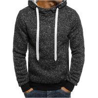 2020 New Fashion Mens Hoodies Brand Men Solid color Sweatshirt Male Hip Hop Autumn Winter Hoodie Mens Pullover XXL