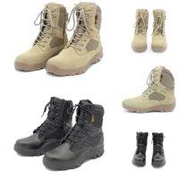 Mais recentes homens não-brandes camurça camurça delta tático bota militar ao ar livre alto-topo deserto Botas de combate homens sapatos 39-46