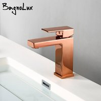 Bagnolux Rose Gold Single Hole Deck Mounted Brass A Handle Cold Hot Mixer Sink Tap Basin Water Tapware Bathroom Faucet