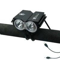 Bike Lights impermeabile USB Light Torch Lampada Lampada Bicycle Bicylamp 5000LM 2x XM-L U2 Faro principale per ciclismo