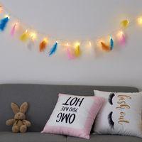 LED Feather Lamp String String Originality Bedroom Dormitorio Decorative Flash Lighting Catene Vendi bene con vari pattern 10 5WC2 J1