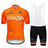 남자 Euskadi 팀 사이클링 저지 세트 MTB 자전거 옷 Ropa Ciclismo 여름 도로 자전거 퀵 드라이 짧은 Maillot Culotte 022717