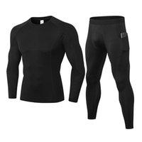 Conjuntos de ropa interior térmica hombres Fanceey compresión Sweat rápido secado térmico de la ropa interior masculina ropa de invierno más el tamaño de Long Johns
