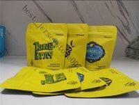 Желтый reclosable напечатанный матовый сухой пищевой Zip замок хранения пакеты пакеты 3,5 г печенье в стоять на миларных фольги сумки сумки 6 сумок конфеты 20