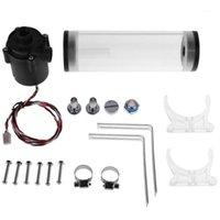 G1 / 4 pulgadas ROSQUE XHC8 + 160 mm Cilindro Tanque de agua 12V 19W PC Refrigeración de agua SC600 Radiador de bomba Soporte de bloqueo de agua para 1