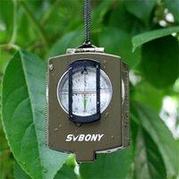 Svbony Pusula Cep Stil Survival Askeri Jeoloji Yürüyüş için Açık Metal Pusula Seyahat Avcılık Kamp Ekipmanları F9136 201113