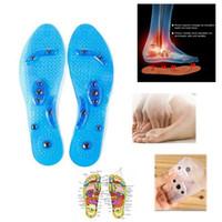 Silikon-Einlegesohlen Magnettherapie Transparente Massage Fuß Gewichtsverlust Abnehmen Einlegesohle Gesundheitswesen Schuhe Pad Sohle Großhandel Dropshipping