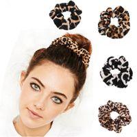 Гладкий коралловый флис бархат классический леопардовый печать насадка для волос эластичные волосы галстуки волос Screunchies женщин аксессуары для волос Q BBYZOU