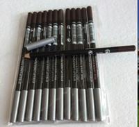 EPACKET ücretsiz kargo sıcak kaliteli en düşük en çok satan iyi satış yeni eyeliner lipliner kalem on iki farklı renklerBrownblack