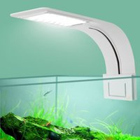 Супер тонкие светодиодные аквариумные легкие растения выращивают осветительные аквариумные аквариумные бак света творческий клип на лампе с вилкой ЕС Y200922