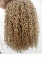 Brasileiro Virgem Humana Remy Clips Ins Extensões de Cabelo Kinky Curls Cabelo MEDURA MEDURA MARROM ALGURA COR