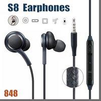 848 DHL S8 Kulaklık Hakiki Siyah Kulak Kulaklık Kulaklık Samsung Galaxy S8 Artı DHL için Handsfree Handsfree