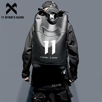 11 bybb의 어두운 힙합 방수 배낭 남자 PU 다기능 학교 컴퓨터 어깨 가방 남성 큰 용량 배낭 남자 LJ200901