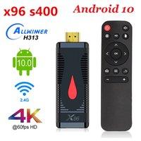 2020 X96 S400 TV عصا الذكية الروبوت 10.0 رباعية النواة ALLWINNER H313 رباعية النواة واي فاي 1080P LPDDR3 4K 2GB 16GB 60FPS TV دونغل