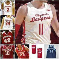 Wisconsin Badgers Basketball Jersey NCAA College Aleem Ford d'Mitrik Trice Brevin Pritzl Walt McGrory Finley Harris Joe Hedstrom Potter