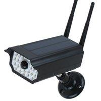 카메라 가짜 더미 카메라 야외 방수 홈 태양 전원 시뮬레이션 LED 조명 보안 감시 1