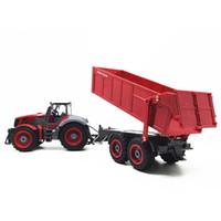 Farmer Tractor 1:28 2.7MHz Radio Remot Control Construction RC Car Dump Trown para niños Regalos de cumpleaños Juguetes 201201