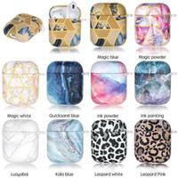Nueva caja de mármol de mármol universal de Coloful de lujo para AirPods 1 2 Funda protectora completa para AirPod 1ª Generación Cubierta a prueba de golpes