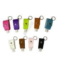 PU cuir 30ML main sacs de couverture de la bouteille de désinfectant pour les mains couvercle de bouteille de parfum porte-sac porte-clés de couverture de protection pendentif désinfectant D92104