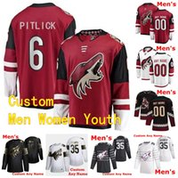 2020 2021 Jersey Arizona Coyotes Hockey 6 Tyler Pitlick 15 John Hayden 73 Dryden Hunt 22 Johan Larsso Hommes Femmes Enfants Personnalisé Cousu