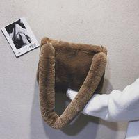 2020 koreanische Herbst-Winter-Pelz-Fashion Net Red Nachahmung Kaninchenhaar Schulter Tragbarer Plüsch Frauen-Bag