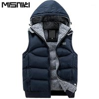 Gilets pour hommes Misniki élégant d'automne Vest d'hiver Hommes Haute Qualité Hood Quality Sans manches Veste sans manches Gaistte (taille asiatique) 1