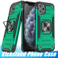 New Armor Bumper Shockproof Kickstand phone Case For iPhone 12 MIni 11 Pro XR XS Max X 6 6S 7 8 Plus Ring Stand Holder Protective Cover