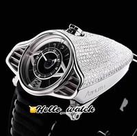 New AZIMUTH Gran Turismo 4 Diamonds Variantes SP.SS.GT.N001 completa Miyota Automatic Mens Watch Preto Prata Dial couro Relógios Hello_Watch