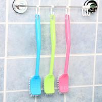 Family Bathroom Plastic Toilet Brush New Material Experts Hook Type Clean Brush Holders Plastic Handle Sanitary Brush DH0062