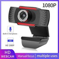 Full HD 720P 1080P Webcam USB Web Cam con micrófono Webcam de video sin conductor para enseñanza en línea transmisión en vivo en caja de venta libre DHL