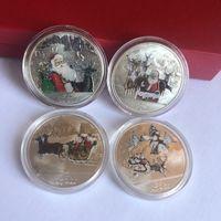 Renkli Noel Para Ruh Noel Baba Hatıra Para Souvenir Koleksiyon Sanat Yüksek Kalite ve Marka Noel Dekorasyon GGE2123
