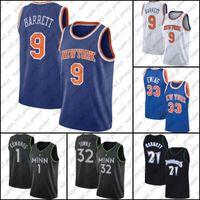 "Нью-Йорк ""Никс"" Timberwolves ""9 RJ Patrick Barrett Ewing Jersey Karl Anthony Kevin Towns Edwards Garnett Джерси"