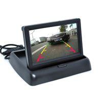 akıllı ekran ve öncelik tersine için iki video girişi ile 4.3 inçlik katlanır araba monitör, LCD yüksek çözünürlüklü ekran