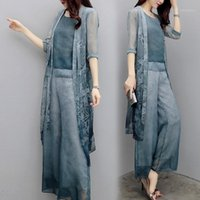 Chiffon Pant Suits For Mother of the Bride Groom Women Party...