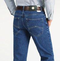 Homens jeans de negócios clássico outono primavera masculino skinny stretch marca denim calças de verão macacões fino fit calças1