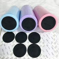 Coussinets en caoutchouc auto-adhésif noir ronds d'autocollants pastables de la tasse de coussinet antidérapant de protection inférieur pour les gobelets maigre de 20 ozz 30oz