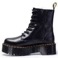 Мода толстые каблуки женские ботинки ботинки лодыжки обувь кожаные пинетки коровы мышц подошвы на шнурок платформы коренастые каблуки дама ботинок размером 36-40