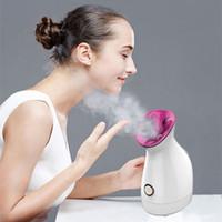 Nano ionico vapore facciale, vapore del fronte per la ragazza umidificatore viso per Warm Femminile Mist Detergente Idratante pori / comedone casa SPA
