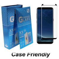 Caso amistoso vidrio templado para el Samsung Galaxy Note S20 S9 20 Ultra Plus Pantalla 10 S8 3d curvo Versión protector