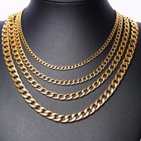 Moda Mücevher Paslanmaz çelik kolye Erkekler Kolyeler kadınlar 18k altın Titanyum Zincirler Kolye adam lüks zincirler 02 kolyeler kolye