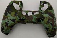 Syytech 위장 손잡이 Camo 고무 스킨 케이스 컨트롤러 부드러운 그립 실리콘 커버 케이스 PS5 PlayStation 5