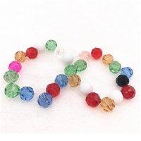 4-10mm 32 Faceted Checa vidro transparente facetada bola de cristal esferas espaçador espaçador para jóias fazendo bracelete DIY pescoço Qylspj