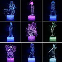 3d аниме ночной свет один кусок рисунок луффи команда Zoro Nami Usopp Sanji Robin Brook LED 3D ночная лампа для детей детские подарки игрушки 201028