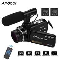 Andoer 4K Ultra HD Handheld DV 3.0inch IPS Câmera de Vídeo Digital CMOS CMOS Filmadora de sensor com 0.45x Lente de ângulo larga com microfone1