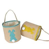 Pascua conejito orejas bolsa bolsa lienzo pascua huevo cesta conejito tali bolsos para niños regalo cubo dibujos animados conejo carro de huevos bolsa